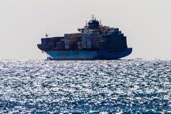 De ruwe Overzeese Containers van het Schip Stock Foto's
