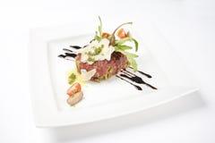 De ruwe Salade van het Rundvlees royalty-vrije stock fotografie