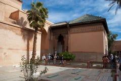 De Saadiens tombsna i Marrakech. Marocko. Royaltyfria Foton