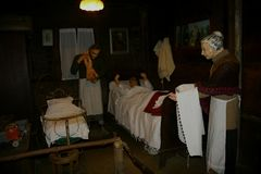 De Sabbioni-Geboorte van Christus - Crema, Lombardia, Italië Stock Fotografie