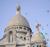 De sacre-Coeur Basiliek, Montmartre, Parijs Stock Foto