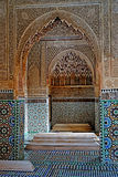 De Sadiane gravvalven i Marrakesh arkivbild