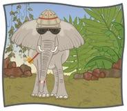 De Safari van de olifant Vector Illustratie
