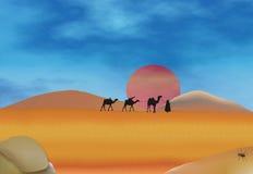De Sahara royalty-vrije illustratie