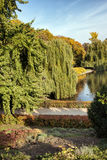 De Saksische Tuin in Warshau Stock Afbeeldingen