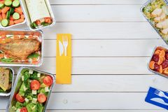 De salade en de rijst van feta royalty-vrije stock afbeelding