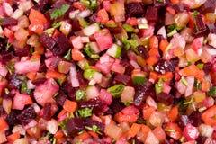 De salade van bieten Stock Afbeeldingen