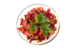 De salade van bieten Royalty-vrije Stock Afbeeldingen