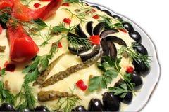 De salade van Boeuf royalty-vrije stock foto's