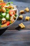 De salade van Caesar die van verse groenten wordt gemaakt royalty-vrije stock afbeeldingen
