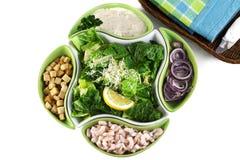 De salade van Caesar met garnalen Royalty-vrije Stock Foto