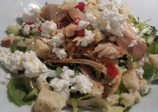 De Salade van Caesar met kip stock foto