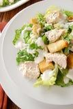 De Salade van Caesar van de kip royalty-vrije stock fotografie