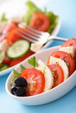 De salade van Caprese Stock Foto