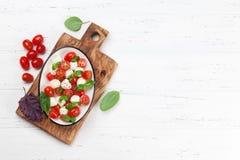 De salade van Caprese Royalty-vrije Stock Afbeeldingen