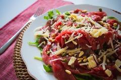 De Salade van Carpaccio Stock Foto