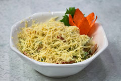 De salade van Cheesw stock foto's