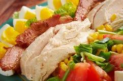 De salade van Cobb stock afbeeldingen