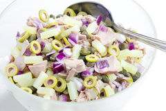 De salade van de aardappel Royalty-vrije Stock Foto's