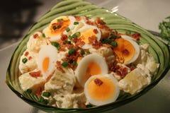 De salade van de aardappel en van het ei Royalty-vrije Stock Afbeeldingen