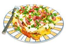 De salade van de aardappel met peterselie Stock Afbeelding