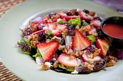 De Salade van de aardbei Stock Afbeeldingen
