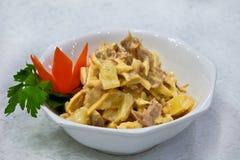 De salade van de ananas met vlees royalty-vrije stock foto's