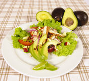 De salade van de avocado Stock Afbeeldingen