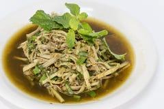 De Salade van de bamboespruit Stock Foto