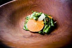 De salade van de dadelpruim en van arrugula Royalty-vrije Stock Afbeelding