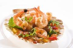 De salade van de garnaal Royalty-vrije Stock Foto's
