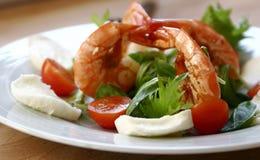 De salade van de garnaal stock afbeelding