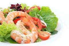 De Salade van de garnaal Stock Foto