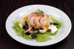 De salade van de garnaal. Royalty-vrije Stock Fotografie