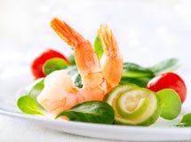 De salade van de garnaal Stock Afbeeldingen