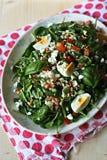 De salade van de gerst met groenten Stock Foto's