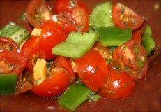 De Salade van de Groene paprika van de tomaat Stock Foto