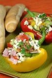 De salade van de groente en van de ham Royalty-vrije Stock Afbeelding