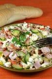 De salade van de groente en van de ham Stock Afbeeldingen