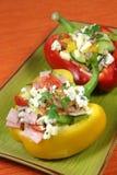 De salade van de groente en van de ham Stock Foto
