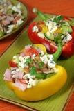 De salade van de groente en van de ham Royalty-vrije Stock Afbeeldingen
