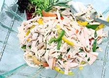 De Salade van de ham Royalty-vrije Stock Afbeelding