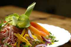 De salade van de ham Royalty-vrije Stock Fotografie