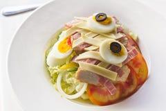 De salade van de ham met ei Royalty-vrije Stock Fotografie
