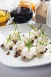 De salade van de kaas royalty-vrije stock afbeelding