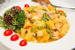 De salade van de kerriekip Royalty-vrije Stock Foto's