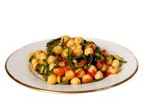 De salade van de kikkererwt Stock Afbeelding