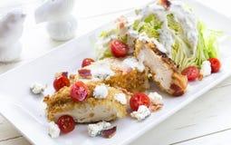 De Salade van de kip BLT Stock Afbeelding