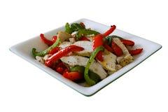 De salade van de kip en van de Peper stock afbeelding