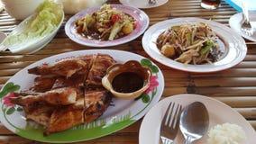 De salade van de kippenpapaja Stock Fotografie